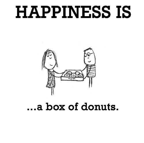 Happiness #693: Happiness is a box of donuts.