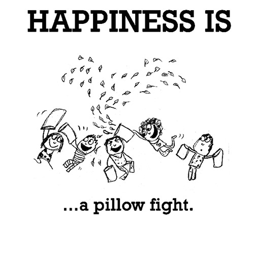 Happiness #695: Happiness is a pillow fight.