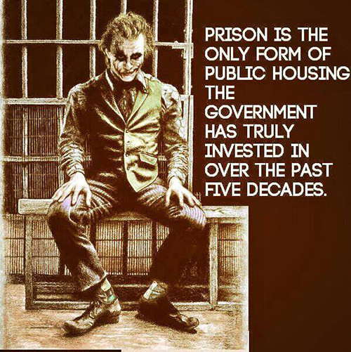Hard Truths #13: Prison is the only form of public housing the government has truly invested in over the past five decades.