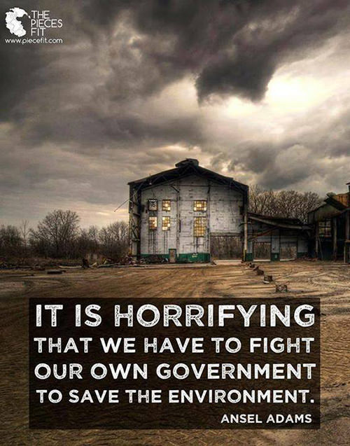 Hard Truths #35: It is horrifying that we have to fight our own government to save the environment.