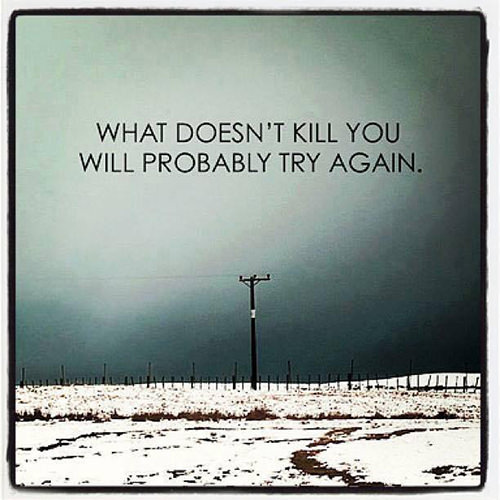 Hard Truths #89: What doesn't kill you will probably try again.