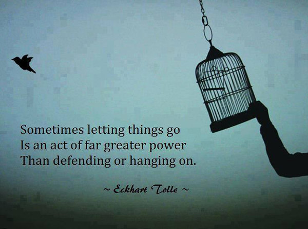 Hard Truths #132: Sometimes letting go is an act of far greater power than defending and hanging on.