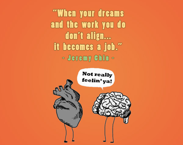 Jeremy Chin #69: When your dreams and the work you do don't align, it becomes a job.