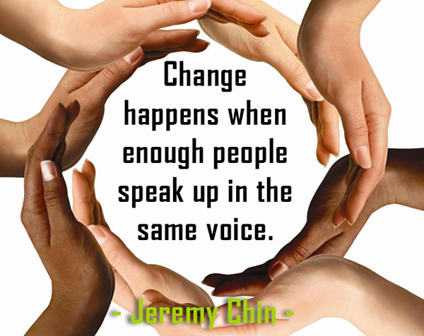 Jeremy Chin #80: Change happens when enough people speak up in the same voice.