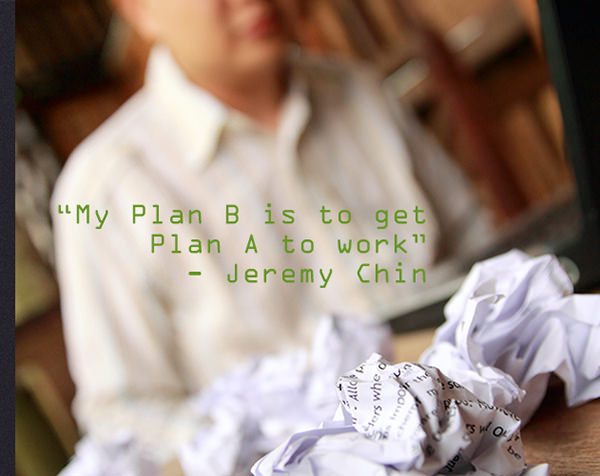 Jeremy Chin #138: My Plan B is to get my Plan B to work. - Jeremy Chin