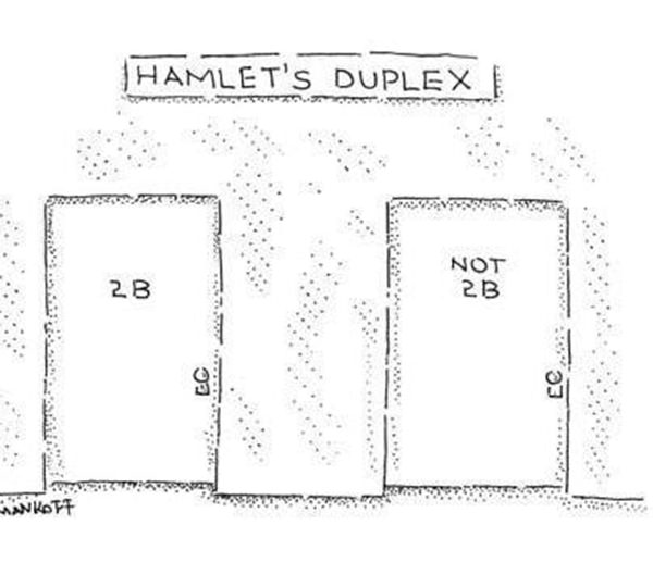 Literary #105: Hamlet's Duplex