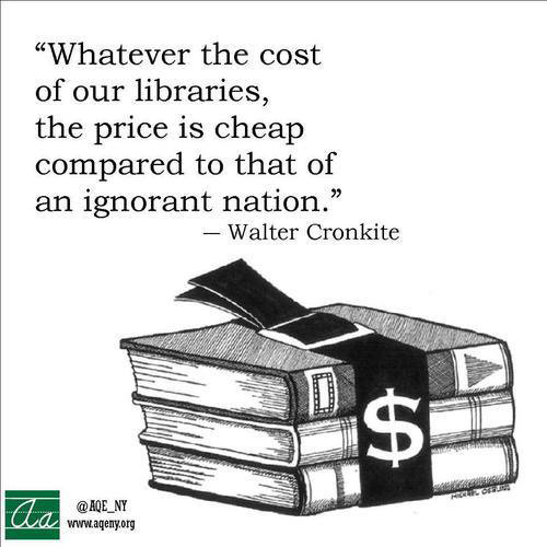 Literary #152: Whatever the cost of our libraries, the price is cheap compared to that of an ignorant nation.