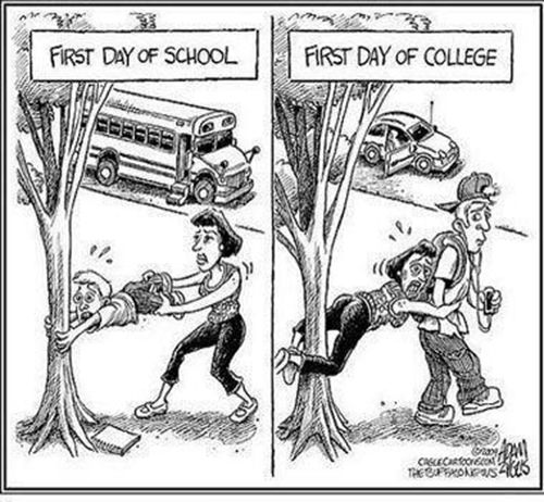 Parenting #16: First day of school. First day of college.