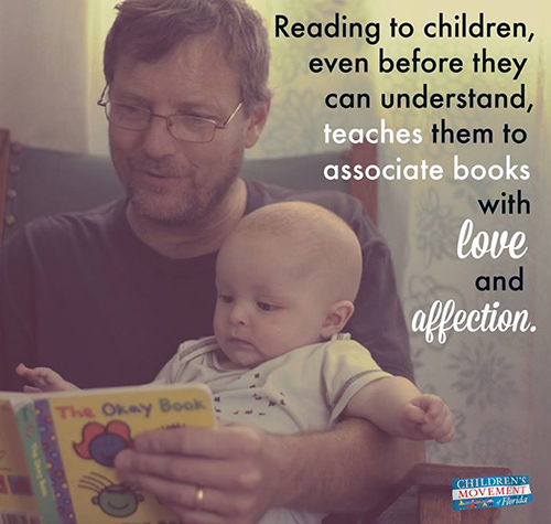 Parenting #42: Reading to children even before they can understand teaches them to associate books with love and affection.