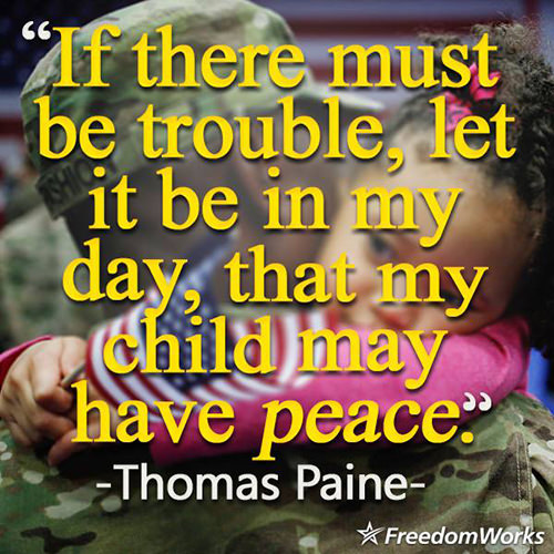 Parenting #48: If there must be trouble, let it be in my day, that my child may have peace.