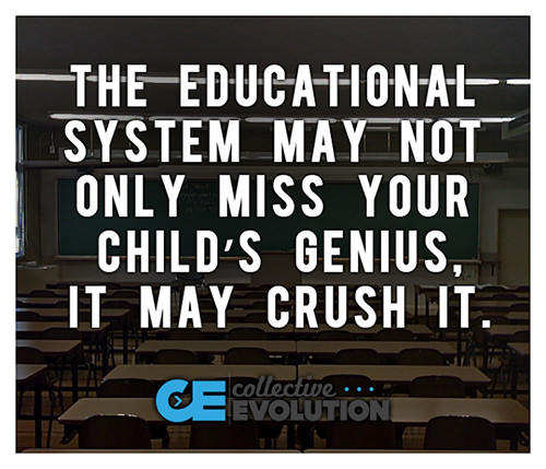 Parenting #53: The educational system may not only miss your child's genius, it may crush it.