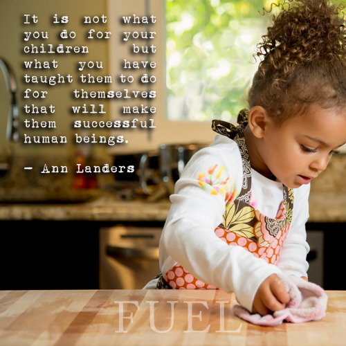 Parenting #64: It is not what you do for your children but what you have taught them to do for themselves that will make them successful human beings. - Ann Landers