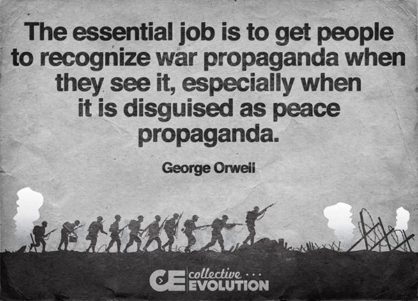 Save Our Planet #32: The essential job is to get people to recognize war propaganda when they see it, especially when it is disguised as peace propaganda.
