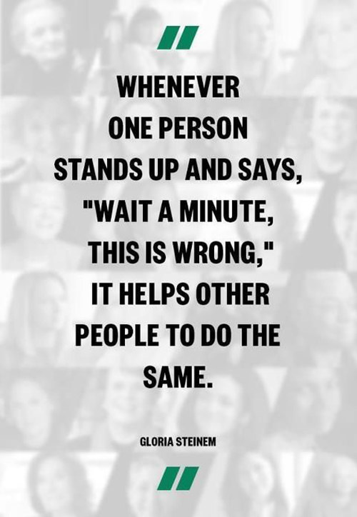 Save Our Planet #39: Whenever one person stands up and says,