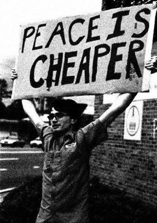 Save Our Planet #41: Peace is cheaper.