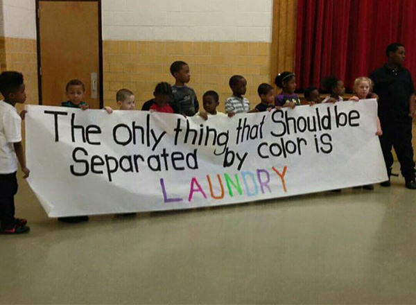 Save Our Planet #55: The only thing that should be separated by color is laundry.