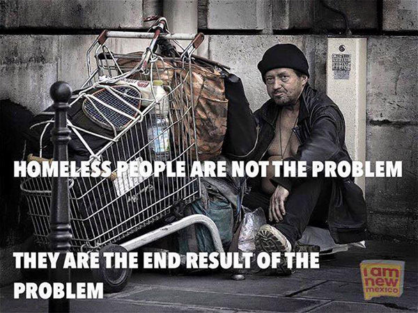 Save Our Planet #57: Homeless people are not the problem. They are the end result of the problem.