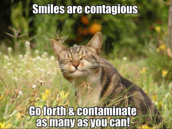 Spread Love #5: Smiles are contagious. Go forth and contaminate as many as you can.
