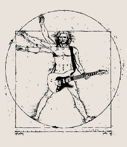 Tickled #75: Leonardo da Vinci Vitruvian Man On Guitar