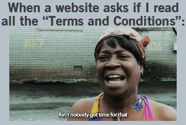 Tickled #105: Ain't Nobody Got Time For That Terms And Conditions Joke