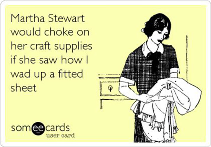 Tickled #111: Martha Stewart Fitted Sheet Humor