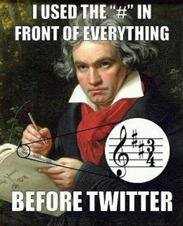 Tickled #112: Beethoven Twitter Hashtag Humor