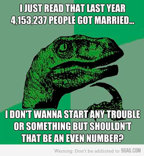 Tickled #121: Philosoraptor Comments on Marriage