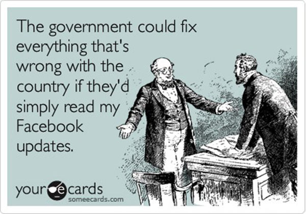 Tickled #130: Funny Facebook Poster on Government