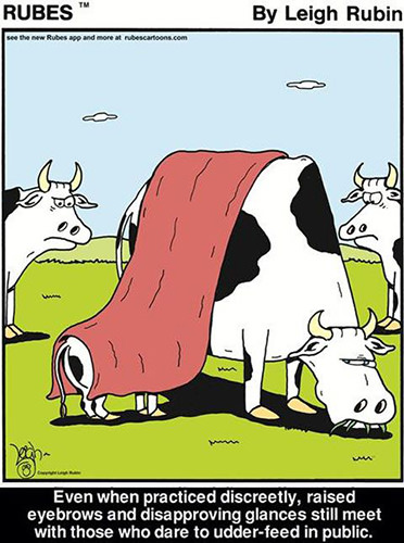 Tickled #136: Funny Breast Feeding Cow Comic
