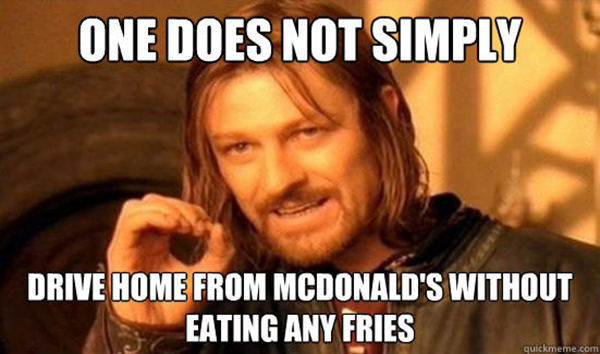 Tickled #154: Funny McDonald's French Fries Aragon Meme