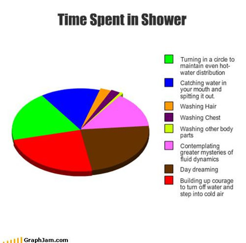 Tickled #162: Funny Shower Pie Chart