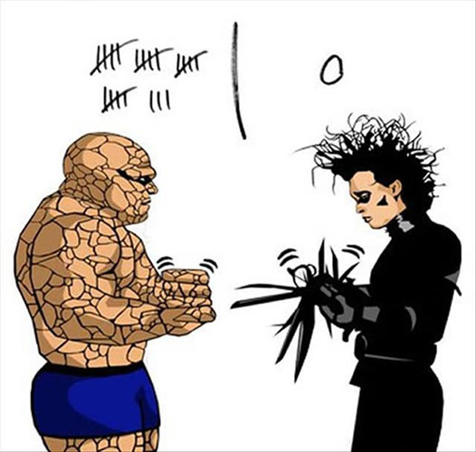 Tickled #176: Funny The Thing vs Edward Scissorhands Poster