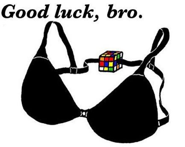 Tickled #180: Funny Bra and Rubix Cube Illustration