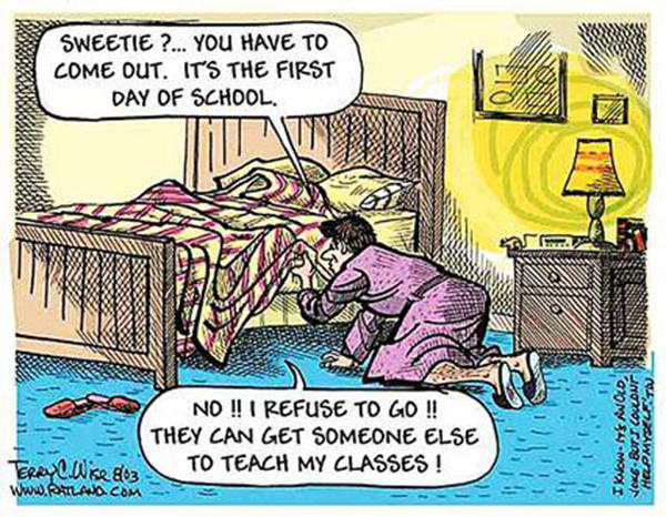 Tickled #221: Funny First Day Of School Cartoon