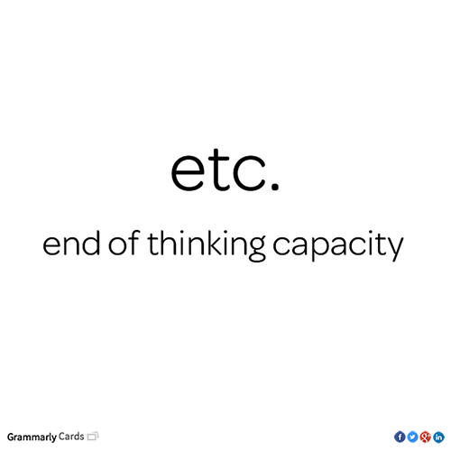 Tickled #224: ETC. End of thinking Capacity