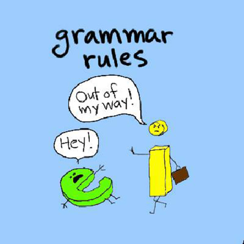 Tickled #280: I before E. Grammar humor.