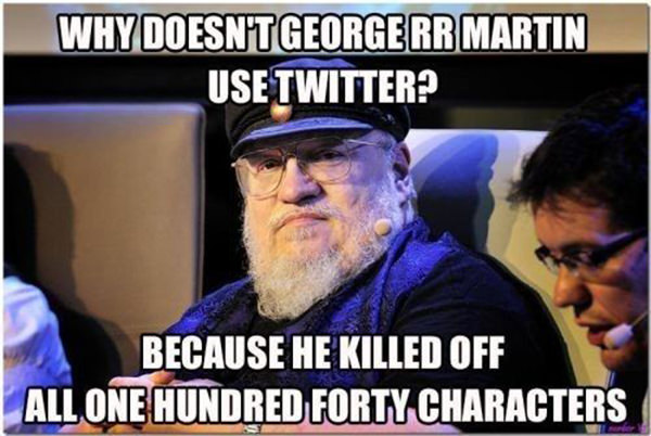 Tickled #349: George RR Martin Twitter Humor
