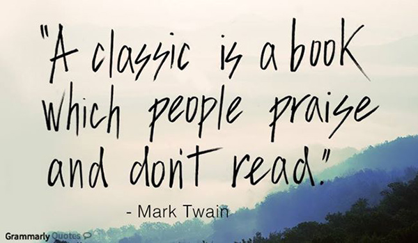 Tickled #432: A classic is a book which people praise and don�t read.