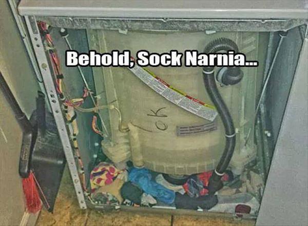 Tickled #447: Behold, socks Narnia.