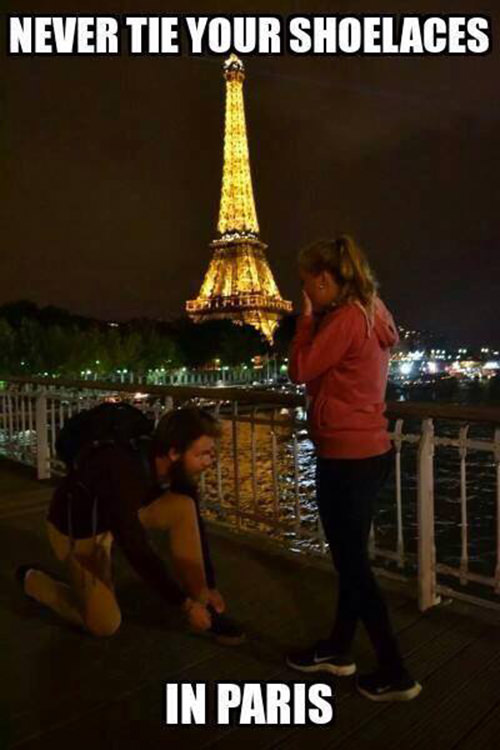 Tickled #460: Never tie your shoelaces in Paris.