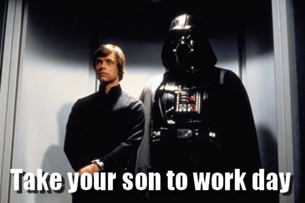 Tickled #492: Take your son to work day.