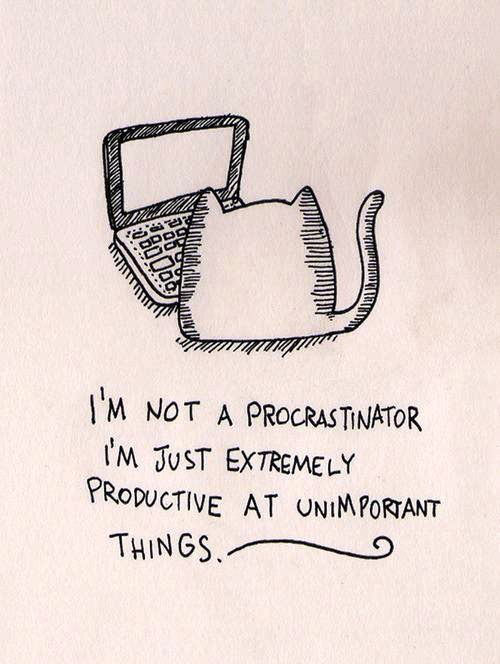Tickled #500: I'm not a procrastinator. I'm just extremely productive at unimportant things.