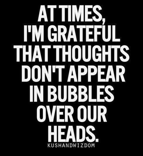 Tickled #526: At times, I'm grateful that thoughts don't appear in bubbles over our heads.