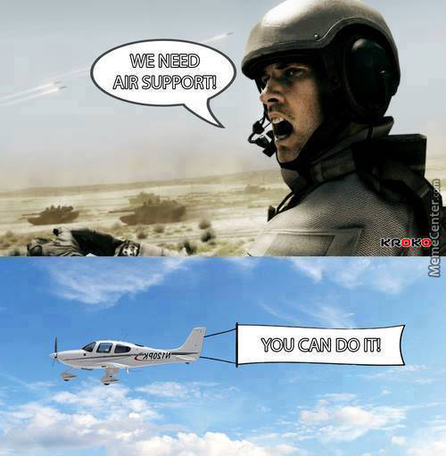 Tickled #547: We need air support. You can do it.
