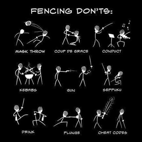 Tickled #555: Fencing Don'ts