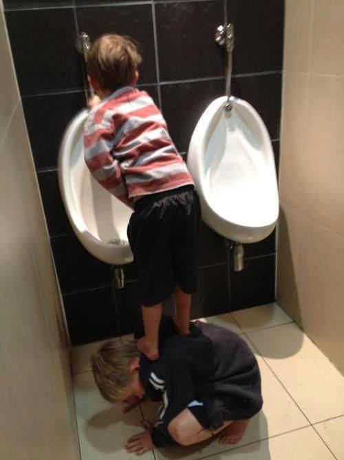 Tickled #560: Human Urinal Step