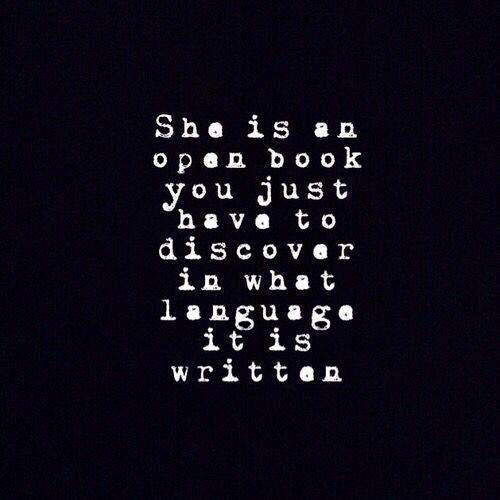 Tickled #588: She is an open book. You just have to discover in what language it is written.