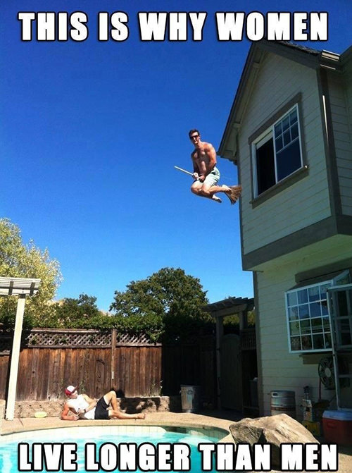 Tickled #591: This is why women live longer than men.