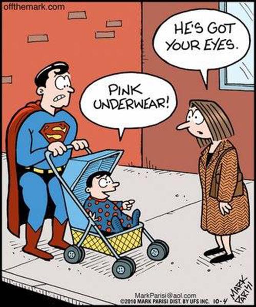 Tickled #616: Pink underwear. He's got your eyes.