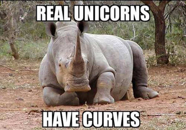 Tickled #617: Real unicorns have curves.